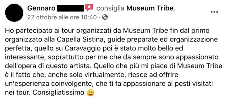 Recensione Gennaro su MuseumTribe