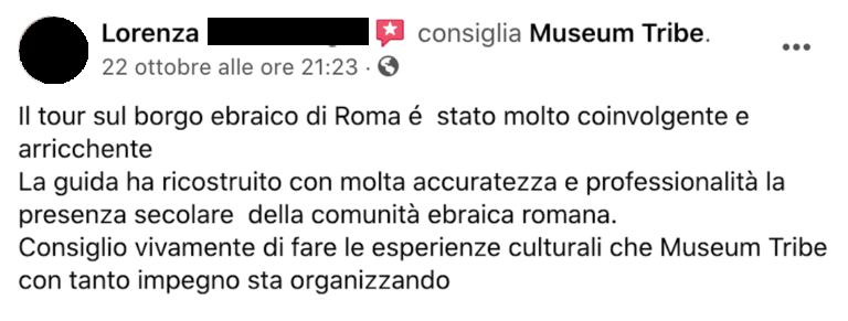 Recensione Lorenza su MuseumTribe